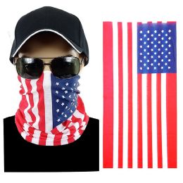 20 Units of Usa Flag Multi Function Seamless Tube Bandana - Face Mask