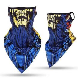 24 Units of Laughing Skull Print Triangle Face Shield - Face Mask