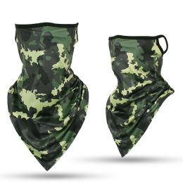 24 Units of Camouflage Print Triangle Face Shield - Face Mask
