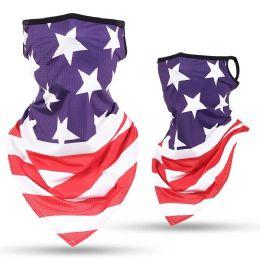 24 Units of Usa Flag Print Triangle Face Shield - Face Mask
