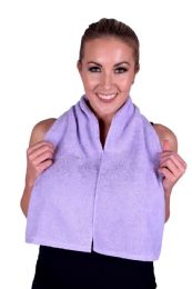 6 Units of Towel Lavender Terry Cotton Gym And Fitness Towel 6 Pack - Bath Towels