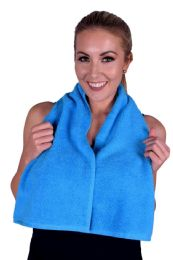 6 Units of Towel Aqua Terry Cotton Gym And Fitness Towel 6 Pack - Bath Towels