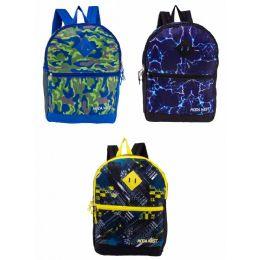 "24 Units of 17"" Backpacks With Side Mesh Water Bottle Pocket In 3 Prints - Backpacks 18"" or Larger"