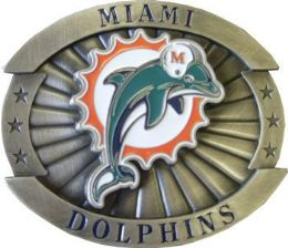 12 Units of Miami Dolphins Belt Buckle - Belt Buckles