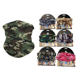 24 Units of Multi Functional Headgear Gaiter - Face Mask