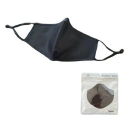 24 Units of Cotton Layered Non Medical Face Cover Black Only - Face Mask