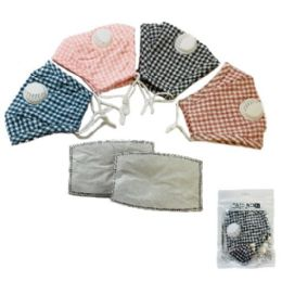 24 Units of Cotton 5-Layer Non Medical Face Cover With Valve - Face Mask