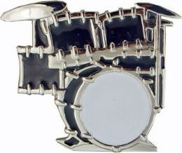 4 Units of Drum Set Belt Buckle - Belt Buckles