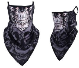 24 Units of Skull Style Face Covering With Earloops Non Medical - Face Mask