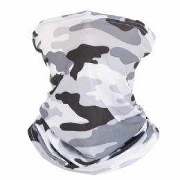 24 Units of Face Covering Scarf/ Neckcover Camo Print Non Medical - Face Mask