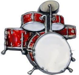 4 Units of Red Drum Set Belt Buckle - Belt Buckles