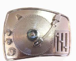 12 Units of Turntable Belt Buckle - Belt Buckles