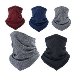 24 Units of Men's Neck Gaiter Assorted Colors - PPE Mask