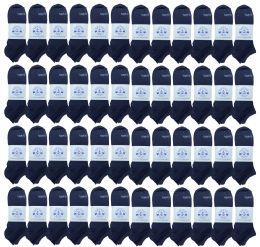 48 Units of Yacht & Smith Low Cut Socks Comfortable Lightweight Breathable No Show Sports Ankle Socks, Solid Navy - Mens Ankle Sock