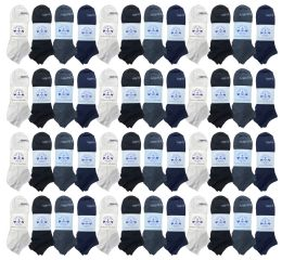 48 Units of Yacht & Smith Low Cut Socks Thin Comfortable Lightweight Breathable No Show Sports Ankle Socks, Solid Assorted Colors - Mens Ankle Sock
