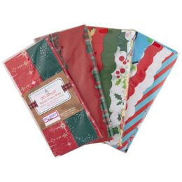 72 Units of Tissue Paper 20ct Shortfold 2 Or 4 Xmas Prints Per Pk Some Scallop Edge - Gift Wrap