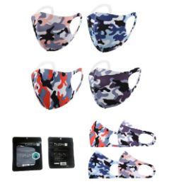 40 Units of Unisex Washable Face Cover Camo - Face Mask