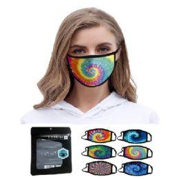24 Units of Unisex Washable Face Mask Tie Dye - Face Mask