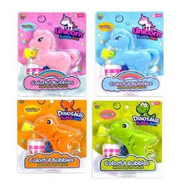 24 Units of Bubble Gun Unicorn Or Dino - Bubbles