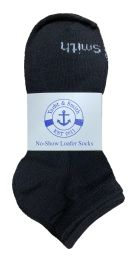 240 Units of Yacht & Smith Kids Unisex Low Cut No Show Loafer Socks Size 6-8 Solid Black BULK BUY - Kids Socks for Homeless and Charity