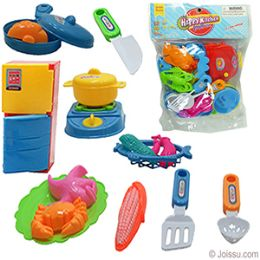 36 Units of 16 Piece Happy Kitchen Playhouse Sets - Girls Toys