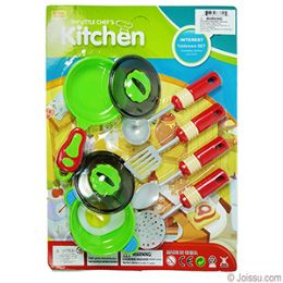 36 Units of 9 Piece Green My Little Chef Kitchen Sets - Girls Toys