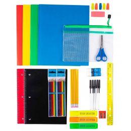 12 Units of 41 Piece Kids Bulk School Supply Kits - School Supply Kits