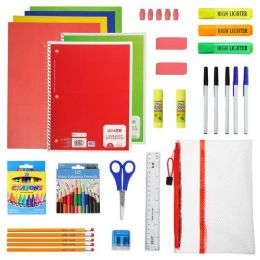 12 Units of 52 Piece Deluxe Kids Bulk School Supply Kits - School Supply Kits