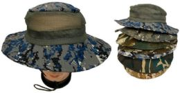 48 Units of Floppy Boonie Hat With Mesh - Cowboy & Boonie Hat
