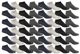 48 Units of Yacht & Smith Mens Thin Low Cut Ankle No Show Socks, Comfortable Lightweight Assorted Colors - Mens Ankle Sock