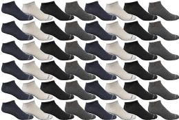 48 Units of 48 Pairs of Yacht & Smith Mens & Womens Thin Low Cut Ankle No Show Socks, Comfortable Lightweight Breathable Bulk Pack Wholesale - Womens Ankle Sock