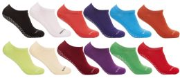 36 Units of Yacht & Smith Assorted Colors Rubber Grip Bottom Cotton Slipper Socks With Terry Cushion Sole - Womens Slipper Sock