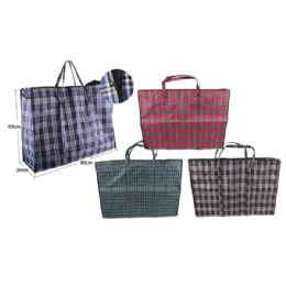 96 Units of Woven Bag Plaid - Tote Bags & Slings