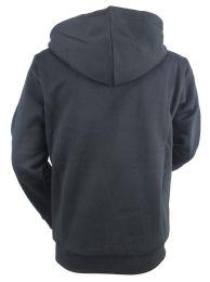 12 Units of Boys Long Sleeve Light Weight Fleece Zip Up Hoodie In Black - Boys Sweaters
