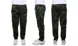 24 Units of Mens Classic Open Bottom Fleece Sweatpants Assorted Sizes , Camo - Mens Sweatpants