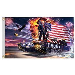 24 Units of Trump on Tank Flag - Flag