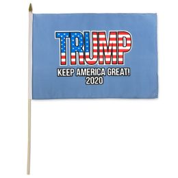 24 Units of Wholesale Trump 2020 Keep America Great Stick Flag - Signs & Flags