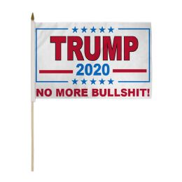 24 Units of Wholesale stick Flag Trump No More Bullshit - Signs & Flags