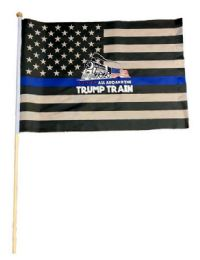 24 Units of Wholesale Blue Line Trump Train - Signs & Flags