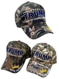 24 Units of Wholesale Trump 2020 Camo - Baseball Caps & Snap Backs