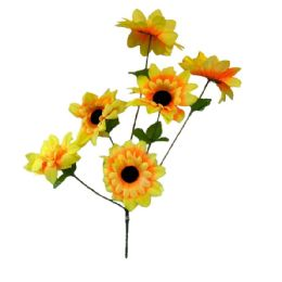 36 Units of 6 Head sun flower - Artificial Flowers