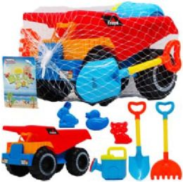 "9 Units of 10.25"" Beach Toy Truck - Beach Toys"