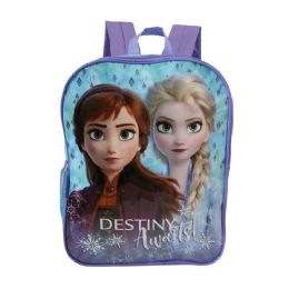 "24 Units of 15"" Kids Frozen Wholesale Backpacks - Backpacks 15"" or Less"