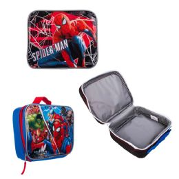 "24 Units of 9"" Insulated Spider Man Lunch Coolers - Lunch Bags & Accessories"