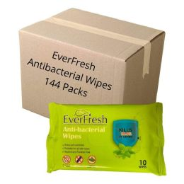 144 Units of Wipes - EverFresh Anti-Bacterial Wipes - First Aid and Hygiene Gear