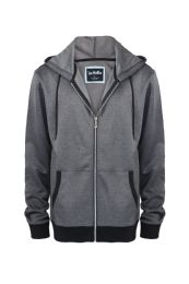 12 Units of Melange Lightweight Performance Light Weight Sweater In Grey - Mens Sweat Shirt