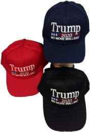 24 Units of Wholesale Trump 2020 Baseball cap No More Bullshit - Baseball Caps & Snap Backs