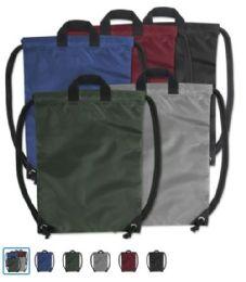48 Units of Kids 15 Inch Promo Drawstring Bag - 5 Colors - Draw String & Sling Packs
