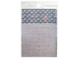 144 Units of 10 Count Nautical Pattern Invitations - Invitations & Cards