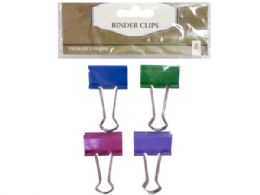144 Units of four pack binder clips - Clips and Fasteners